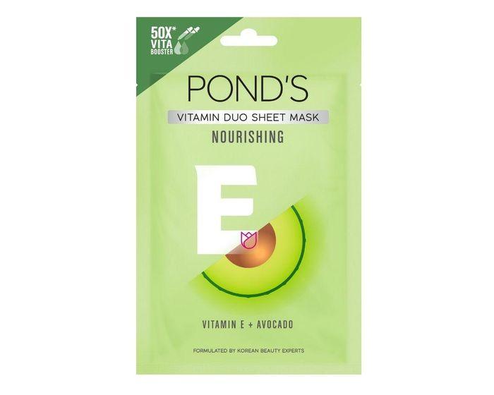 Pond's Vitamin Duo Sheet Mask Vitamin E + Avocado.