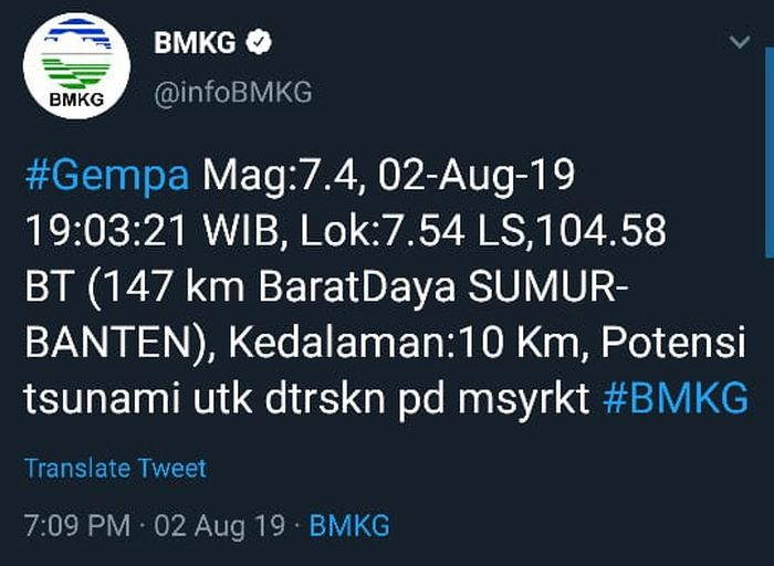 Gempa Jakarta.