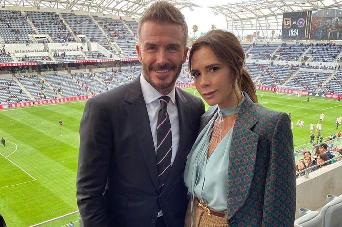 David Beckham dan istri, Victoria Beckham.