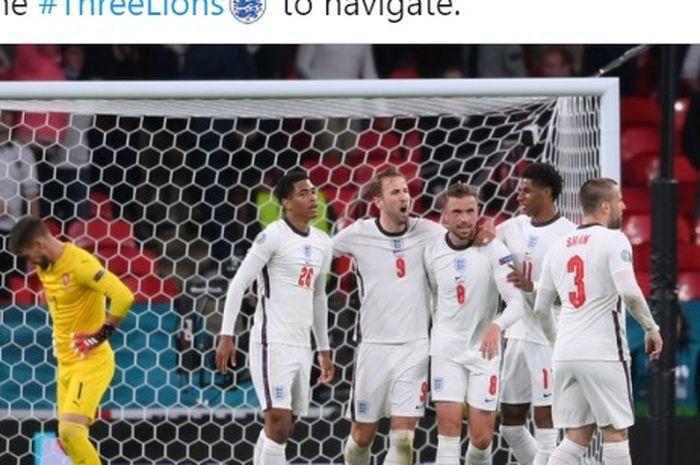 Timnas Inggris lawan Republik Ceska dalam matchday terakhir Grup D EURO 2020 di Wembley Stadium, Selasa (22/6/2021) waktu setempat.