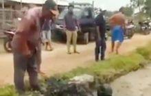 Video Aksi Unik Warga Subang ke Maling Motor yang Tertangkap, Dibikin Hitam Sekujur Badan