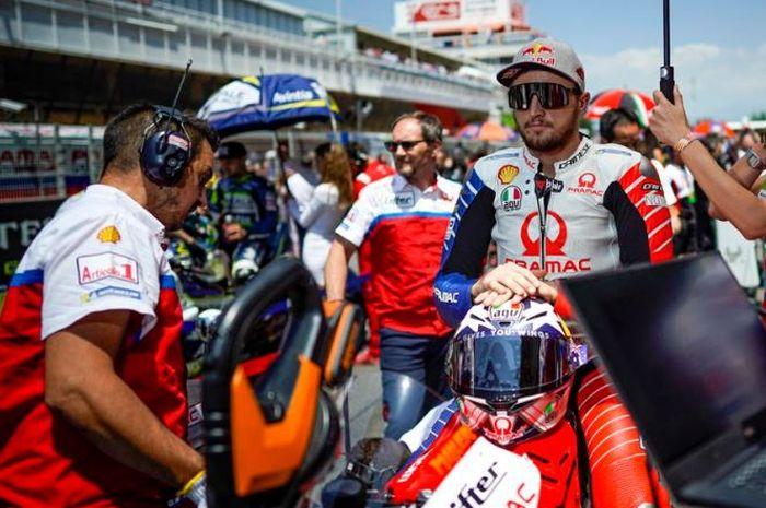Pembalap Pramac Racing, Jack Miller tengah bersiap jelang balapan MotoGP Jerman 2019, Minggu (7/7/2019)