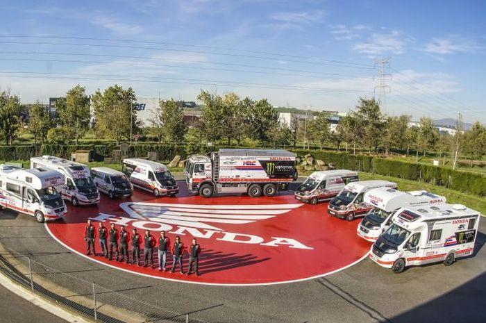 Ini kendaraan yang siap mendukung pereli Monster Energy Honda Team di Reli Dakar 2019