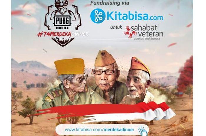 PUBG Mobile berdonasi untuk para veteran.