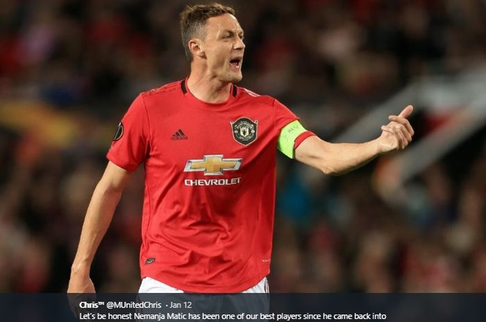 Gelandang bertahan Manchester United, Nemanja Matic.