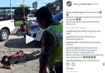 Viral! Ditilang Polisi, Pemuda di Bengkulu Malah Pura-pura Kesurupan