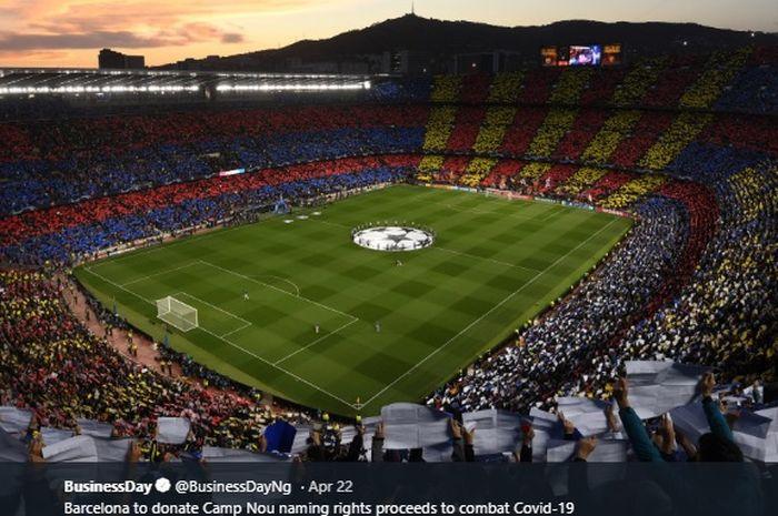 Kandang Barcelona, Stadion Camp Nou.