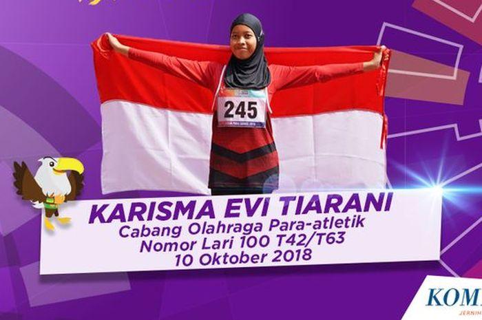 Foto Karisma Evi Tiarani, atlet para atletik Indonesia