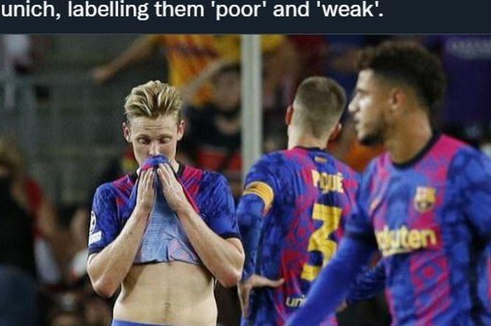 Barcelona disamakan dengan Arsenal oleh para pendukungnya setelah kalah telak dari Bayern Muenchen di Liga Champions.
