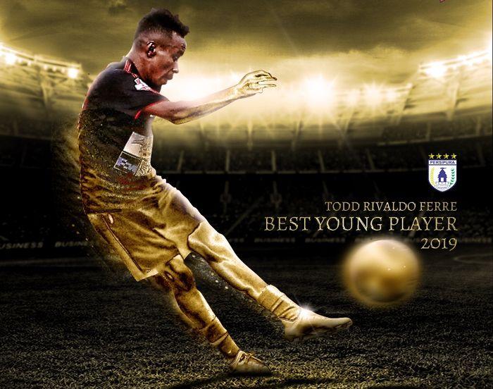 Sayap Persipura Jayapura, Todd Rivaldo Ferre, dianugerahi gelar pemain muda terbaik Liga 1 2019