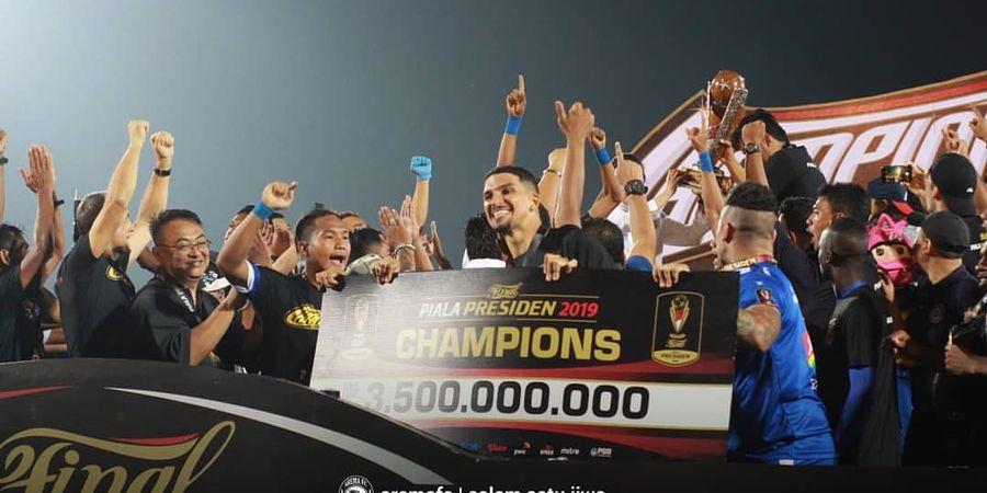 Arema FC Tunda Arak-arakan Trofi Piala Presiden 2019 untuk Hormati Pemilu