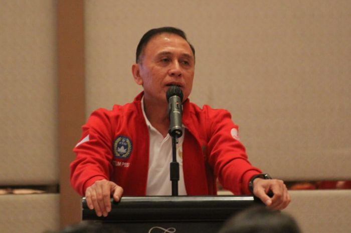 Ketua Umum PSSI, Mochamad Iriawan pada acara pelepasan timnas U-19 Indonesia di Hotel Fairmont, Senayan, Jakarta Pusat, Sabtu (29/8/2020).