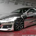 Silau Abis, Tesla Model S Dibuat Kinclong dan Pakai Pelek Forgiato