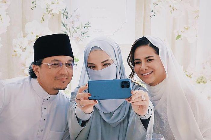 Neelofa bersama Engku Emran dan Noor Nabila
