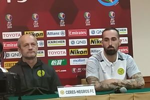 Piala AFC - Koleksi 9 Poin, Ceres Negros Santai Akan Dijamu Persija