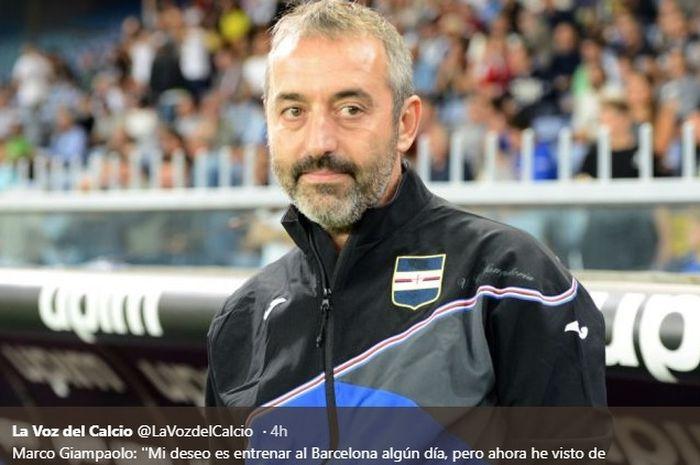 Pelatih Sampdoria, Marco Giampaolo.