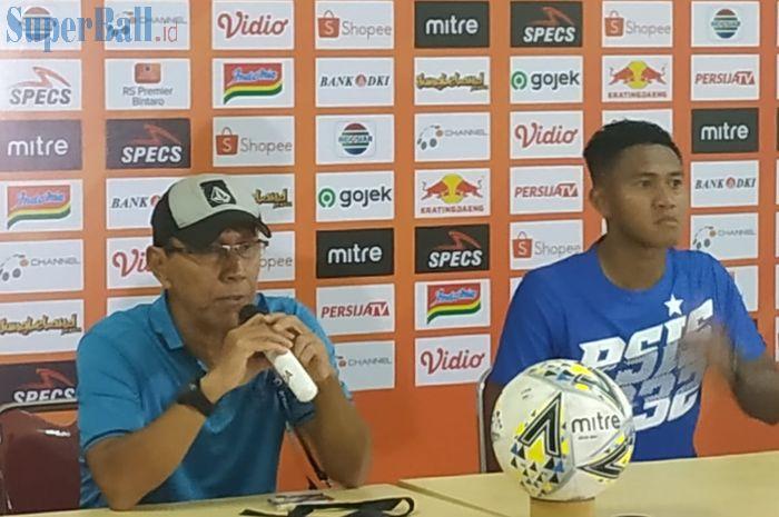 Pelatih dan pemain PSIS Semarang, Bambang Nurdiansyah serta Ganjar Mukti seusai laga kontra Persija Jakarta, Minggu (15/9/2019).