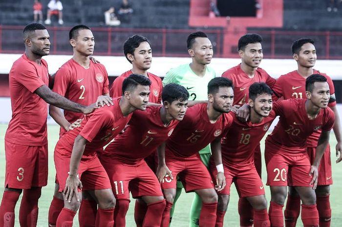 Skuat timnas U-23 Indonesia dalam persiapan menuju kualifikasi Piala Asia U-23 2020.