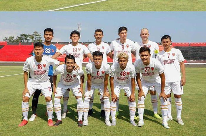Skuat PSM Makassar saat menghadapi Lalenok United pada babak play-off Piala AFC 2020.