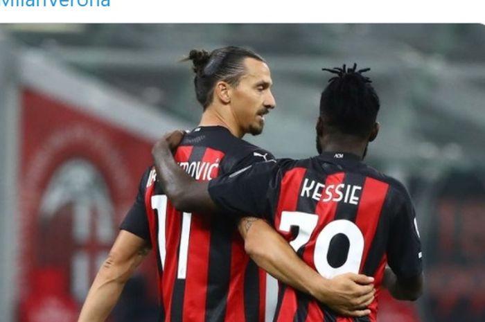 Zlatan Ibrahimovic dan Franck Kessie, dua sosok yang dianggap memiliki pengaruh besar di ruang ganti AC Milan.
