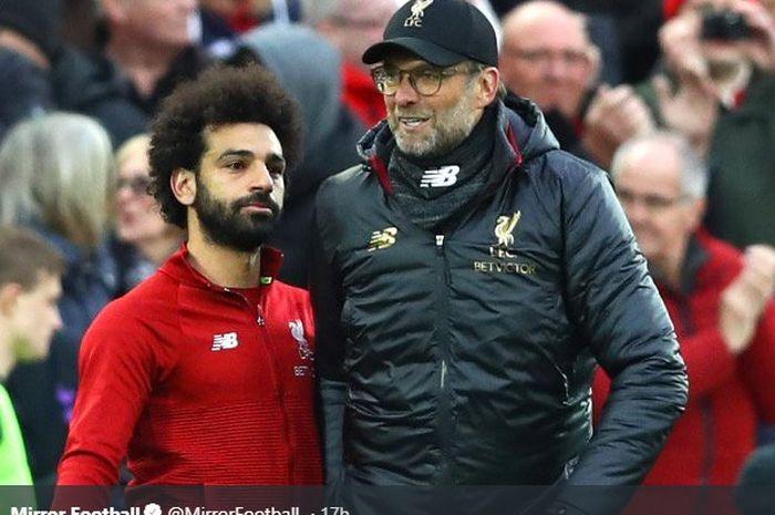 Juergen Klopp dan Mohamed Salah