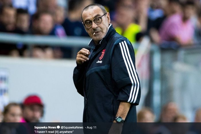 Pelatih Juventus, Maurizio Sarri.