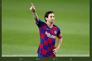 VIDEO - Tembakan Voli Messi Bikin Kiper Espanyol Sakit Perut
