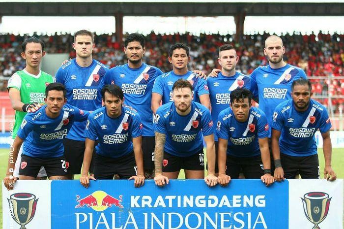 Skuat PSM Makassar saat menghadapi Kalteng Putra pada babak 32 besar Piala Indonesia 2018