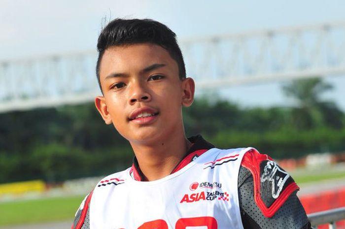 Pembalap muda Indonesia, Mohammad Adenta Putra, tampil pada Asia Talent Cup 2019.