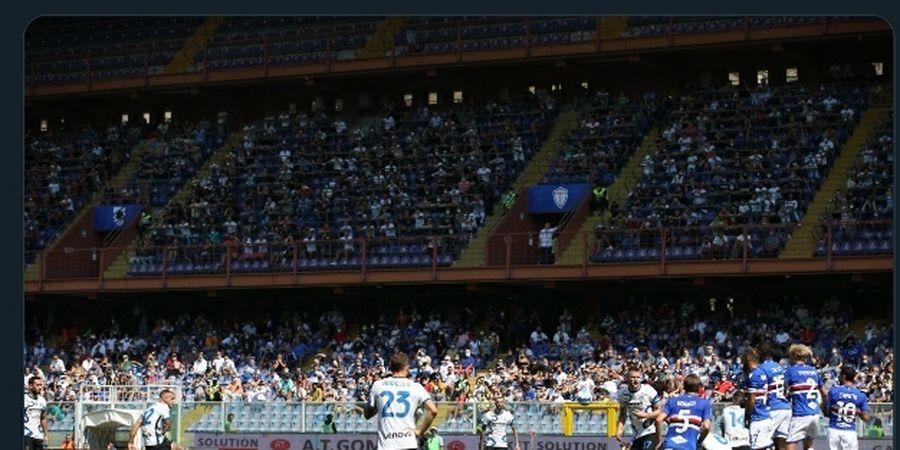 Babak I Sampdoria Vs Inter Milan - Balas-balasan Gol, Tamu Unggul 2-1