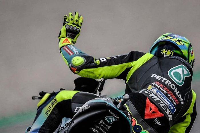 Pembalap gaek yang bertarung di MotoGP Jerman 2021, Valentino Rossi.
