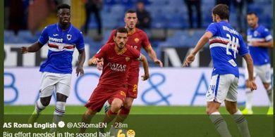 Hasil Liga Italia - Drama Kartu Merah, AS Roma Ditahan Juru Kunci