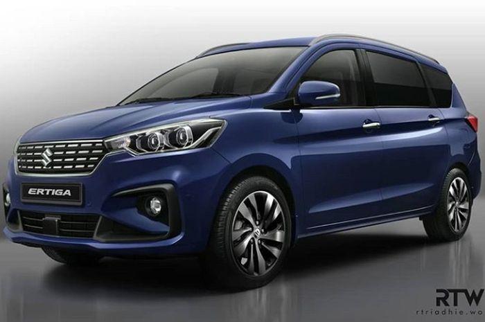 Modifikasi digital Suzuki Ertiga anyar dengan tampilan lebih mewah