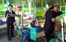Bikin Haru, Naik Motor Bebek Jualan Somay, Bapak Ini Dipeluk Anaknya yang Baru Lulus Kuliah Sambil Nangis