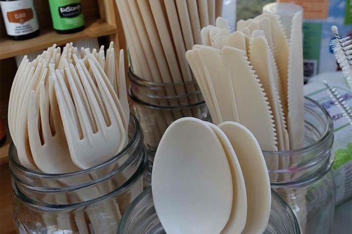 Peralatan makanan dan sedotan dibuat dari biji alpukat