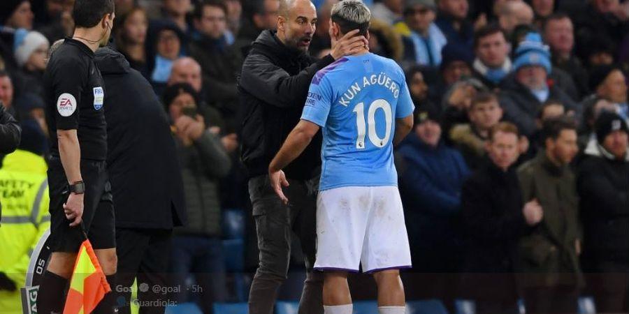 Alami Cedera, Pep Guardiola Khawatir Sergio Aguero Menepi hingga Akhir Musim