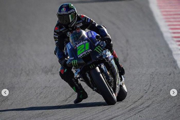 Pembalap anyar Monster Energy Yamaha, Franco Morbidelli saat tampil di MotoGP San Marino 2021.