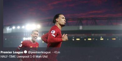 Hasil Liga Inggris - Dua Kali Dibikin Sial VAR, Liverpool Sikat Man United