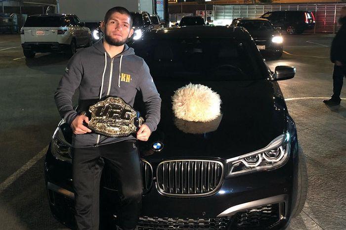 Khabib Nurmagomedov akan 'hancurkan' mobil presiden UFC kalo nggak mendapatkan sabuk juaranya
