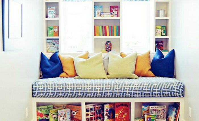 Pojok baca untuk anak di rumah