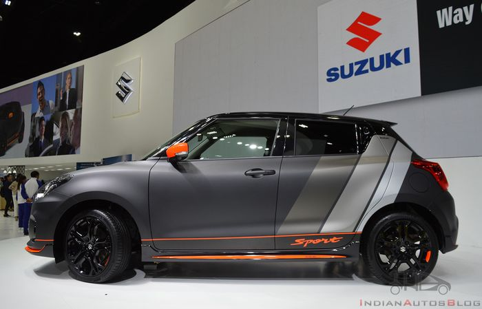 Tampilan samping modifikasi Suzuki Swift Sport pakai kelir Moger