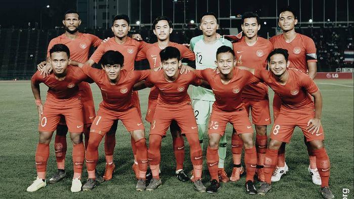 Skuat timnas U-22 Indonesia di final Piala AFF U-22 2019 melawan Thailand, Selasa (26/2/2019).