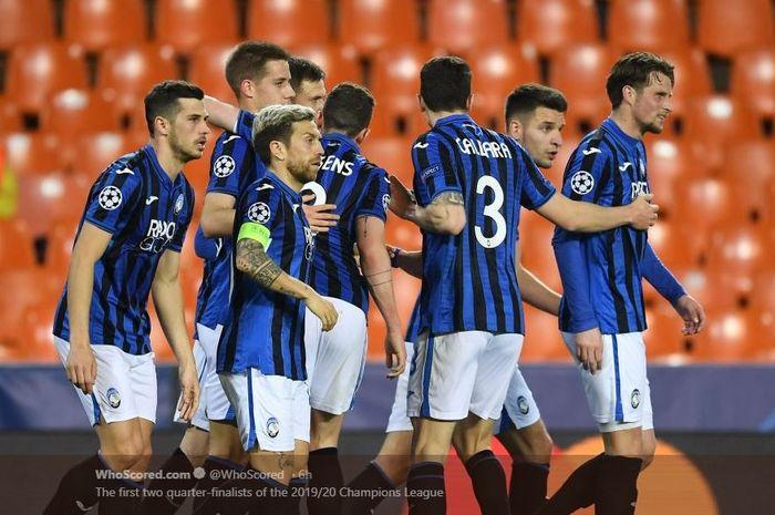 Atalanta lolos ke perempat final Liga Champions usai singkirkan Valencia di babak 16 besar.
