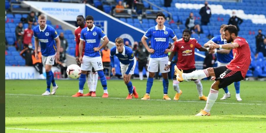 Bruno Fernandes Cetak Gol Penalti Kontroversial, Man United Bayar Rp 86 Miliar ke Sporting CP