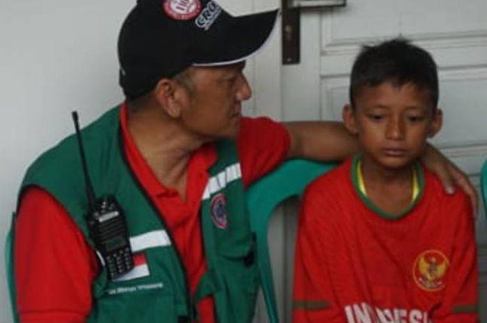 Aditia, calon pemain timnas U-13 Indonesia yang menjadi korban Tsunami Banten dan Lampung.
