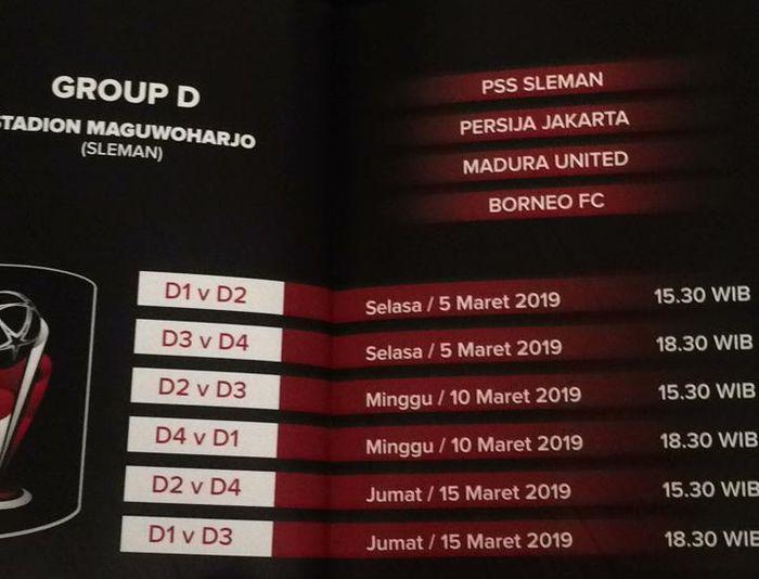 Jadwal Grup D Piala Presiden 2019 - Duel Juara di Grup ...