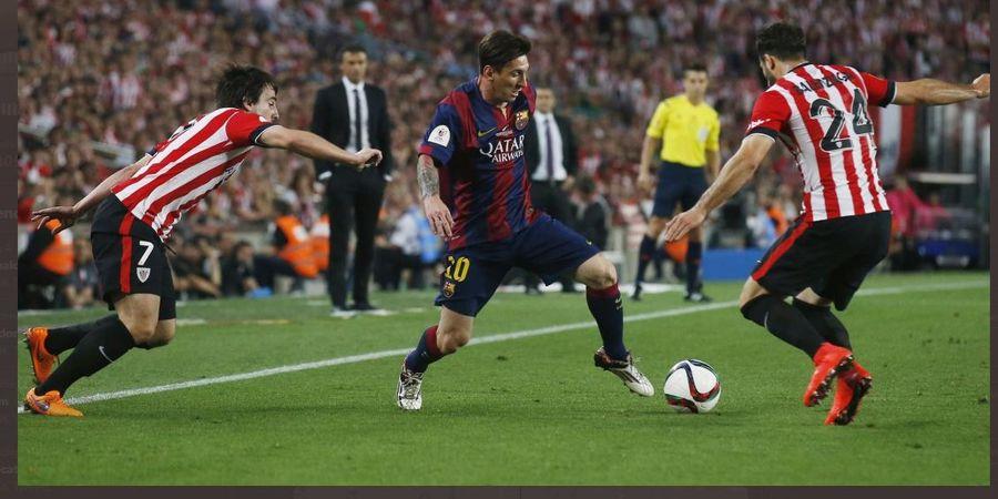VIDEO - Gol Super Lionel Messi vs Bilbao, Kecoh 7 Pemain dari Tengah Lapangan