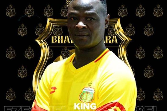 Ezechiel Ndouassel, resmi bergabung ke Bhayangkara FC pada bursa transfer menjelang Liga 1 2020, Selasa (21/1/2020).