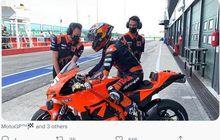Reaksi Duo Calon Debutan KTM usai Jajal Motor Kelas MotoGP untuk Pertama Kalinya