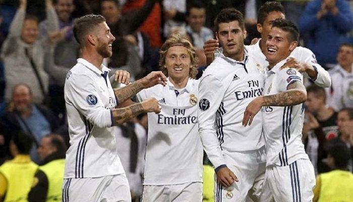 James Rodriguez (paling kanan), ketika masih bermain untuk Real Madrid